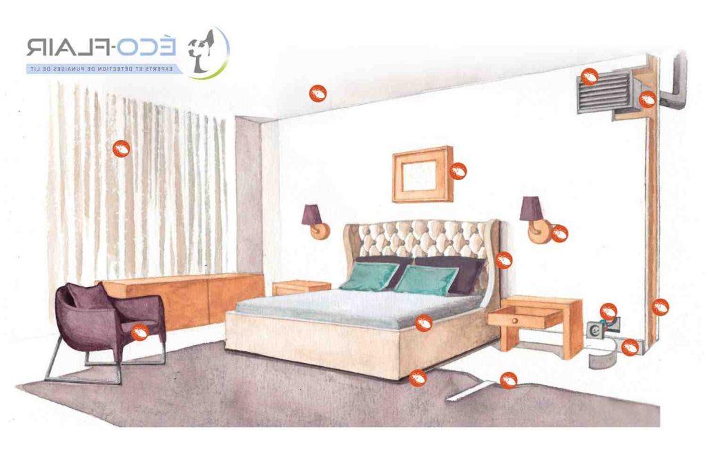 Où se cache les moustiques dans la chambre ?